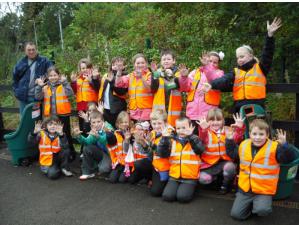 pupils on a school trip